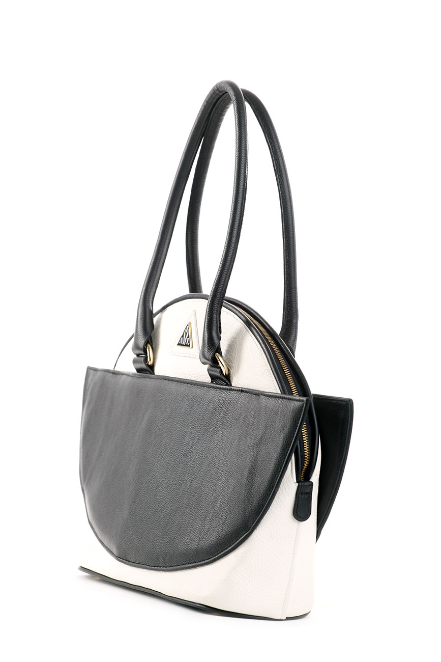 AIL Bags Antonia Two Black and White Side