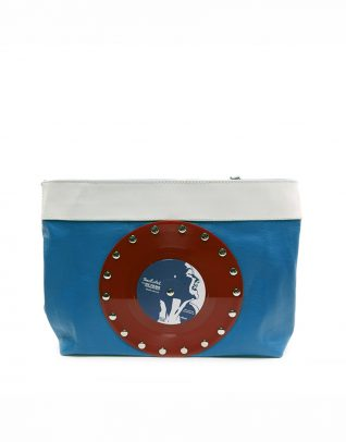 AIL Bags CH2 Vinyls Blue Red Clutch
