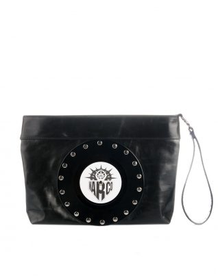 AIL Bags CH2 Vinyls Lacquered Black Clutch