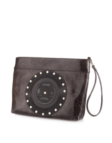 AIL Bags CH2 Vinyls Lacquered Gray Clutch