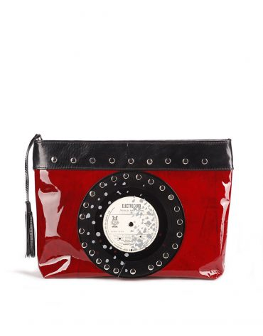 AIL Bags CH2 Vinyls Lacquered Red Clutch Front