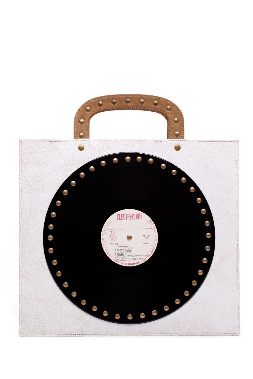 AIL Bags CH2 Vinyls One White and Cappuccino Front