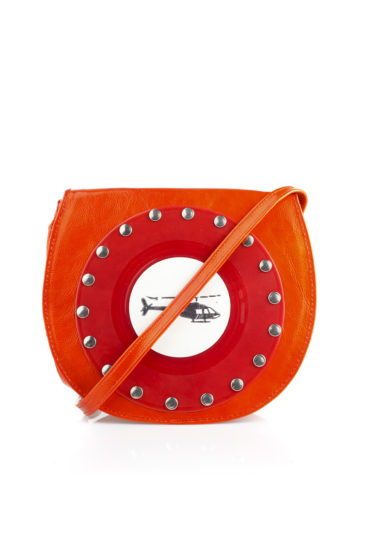 AIL Bags CH2 Vinyls Orange Shoulder Front