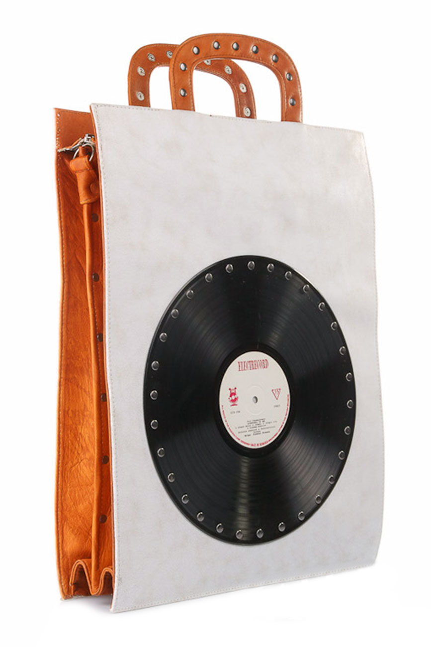 AIL Bags CH2 Vinyls Tall Briefcase Camel Side