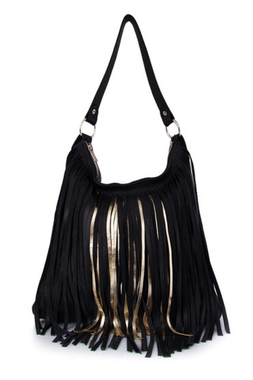 AIL Bags Fringe Aniq Gold Front