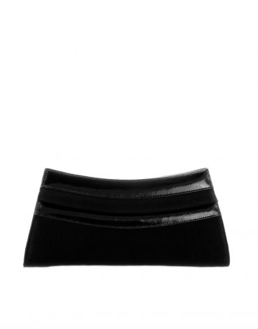 AIL Bags Kate Black Concav Clutch Front