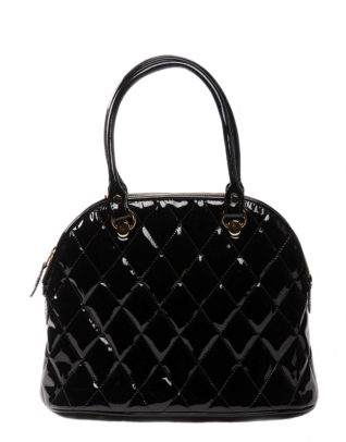 AIL Bags Kate Black Quilted Front