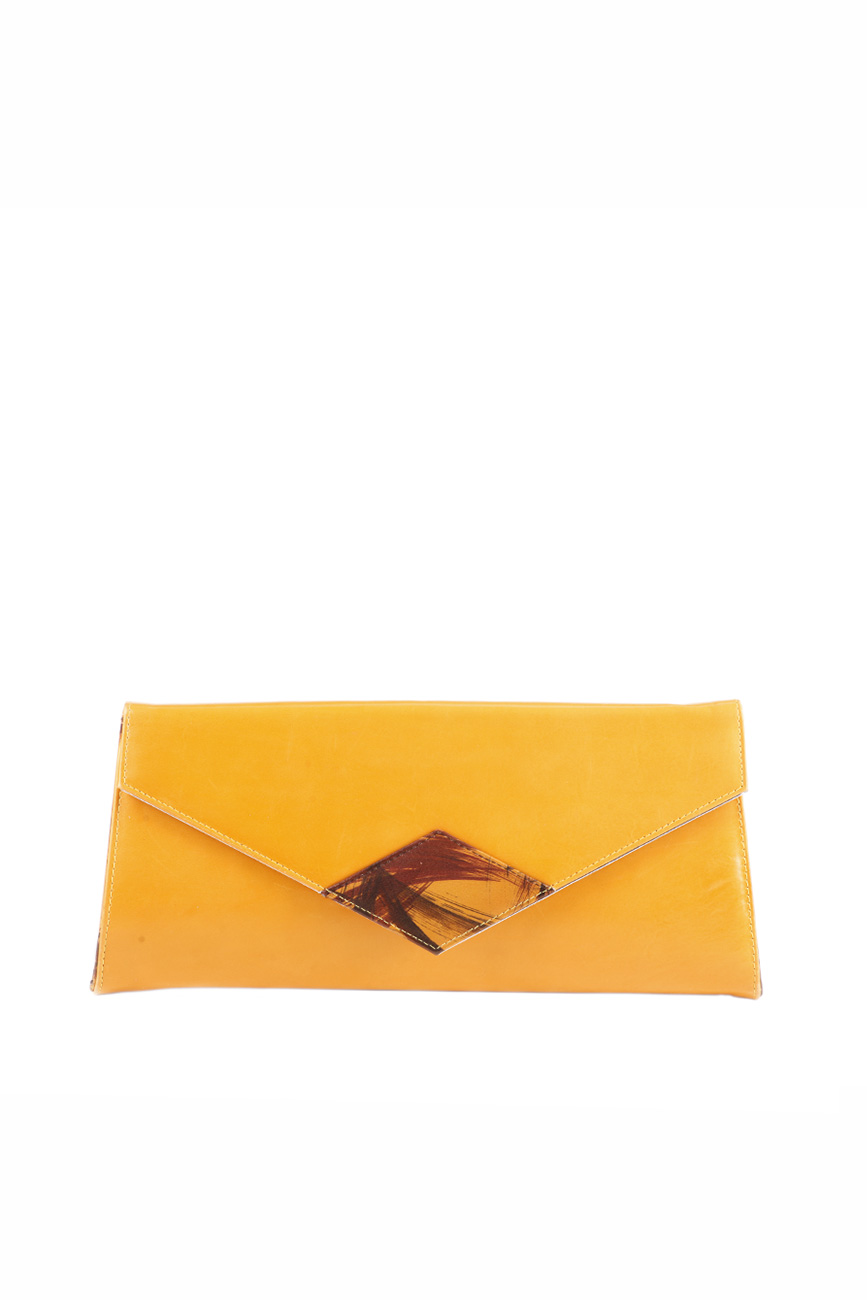 AIL Bags Iconss Orange Romb Clutch Front