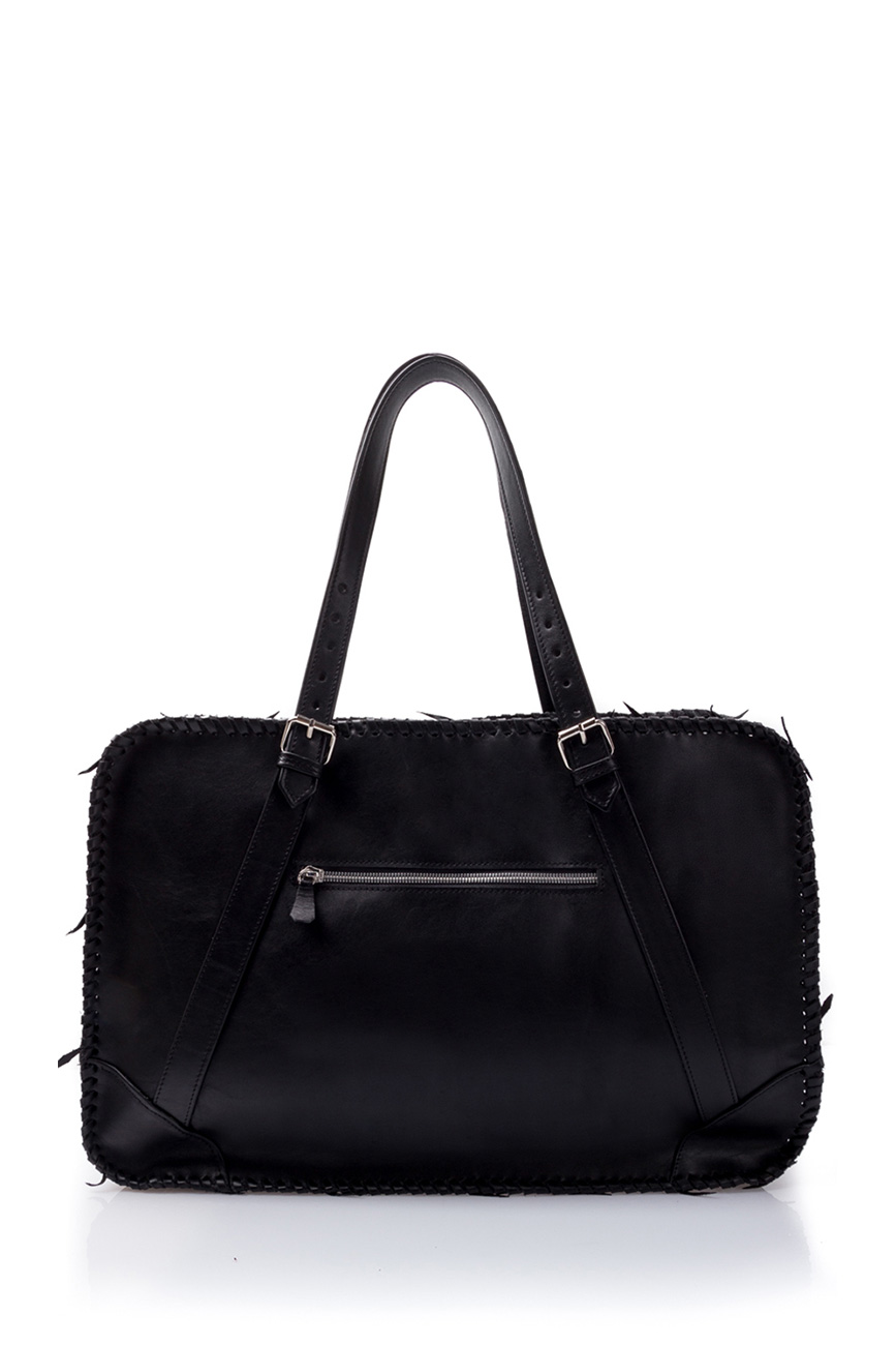 AIL Bags for HIM Black Knitted Weekender Back