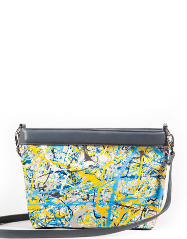 AIL Bags Canvas Bag Blue Yellow Back