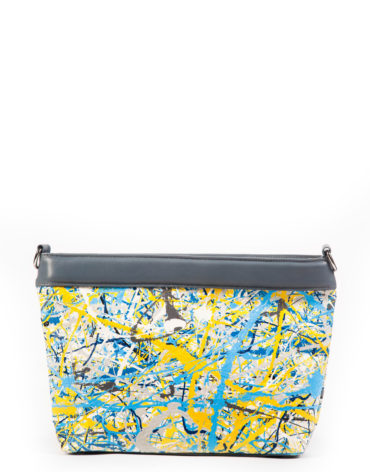 AIL Bags Canvas Bag Blue Yellow Front