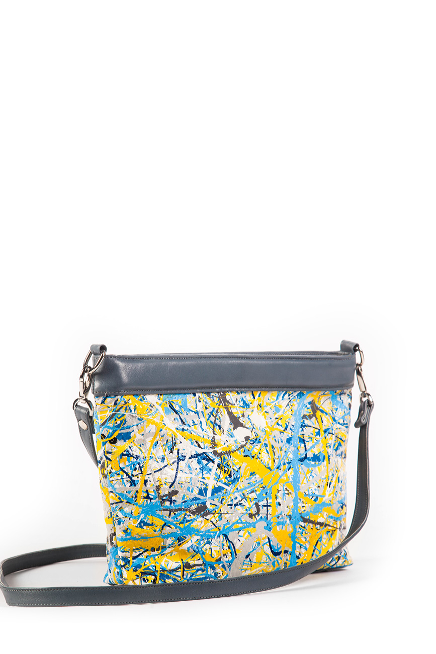AIL Bags Canvas Bag Blue Yellow Side