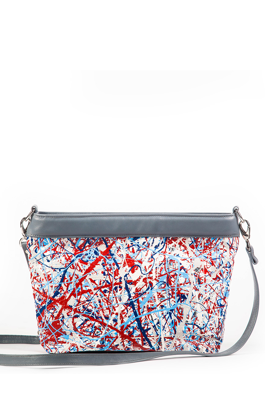 AIL Bags Canvas Bag Red Blue Back