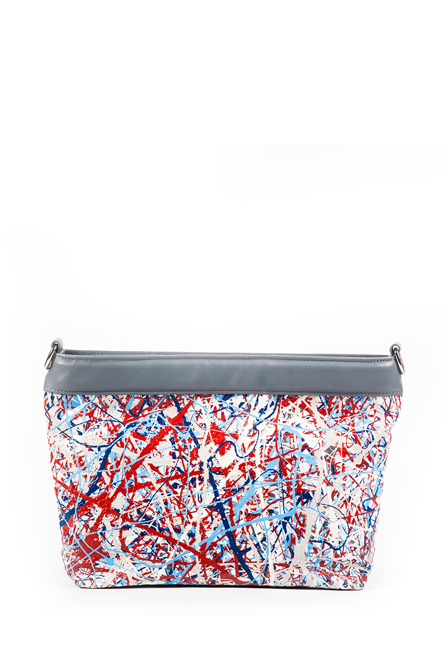 AIL Bags Canvas Bag Red Blue Front