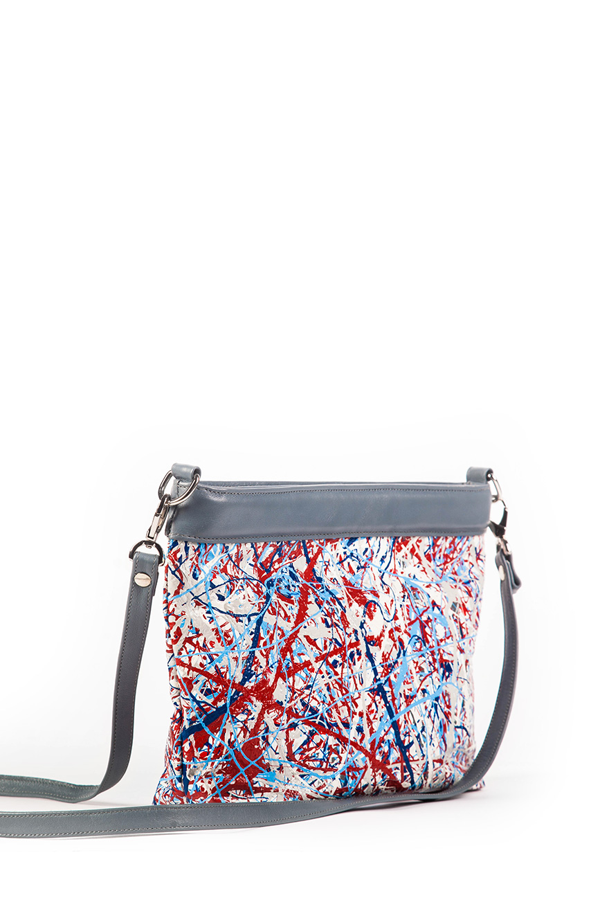 AIL Bags Canvas Bag Red Blue Side