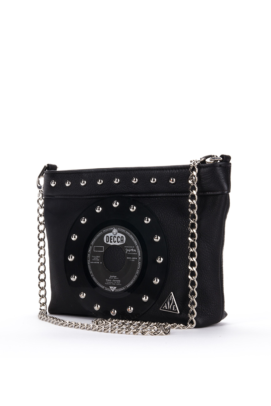 AIL Bags CH2 Vinyls Black Clutch 2 Side
