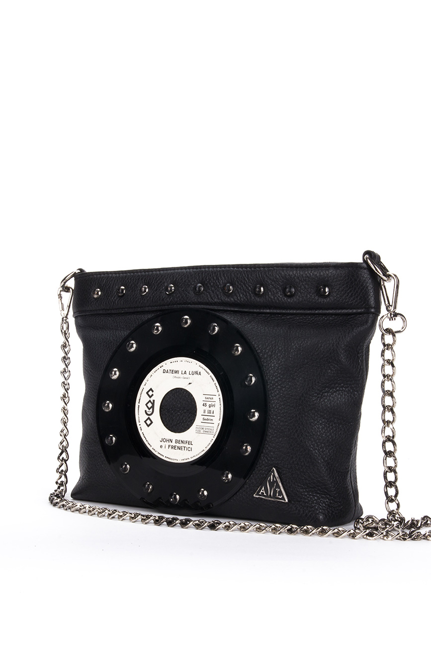 AIL Bags CH2 Vinyls Black Clutch 3 Side
