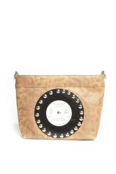 AIL Bags CH2 Vinyls Brown Clutch Front