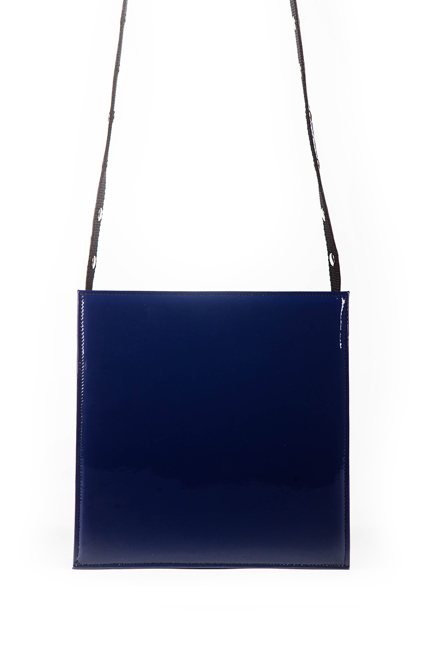 AIL Bags CH2 Vinyls Mini Square Blue Back