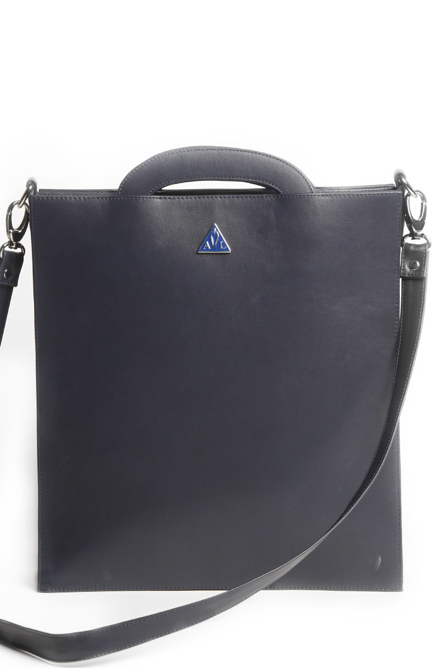 AIL Bags CH2 Vinyls Ultramarine Briefcase with Strap Back