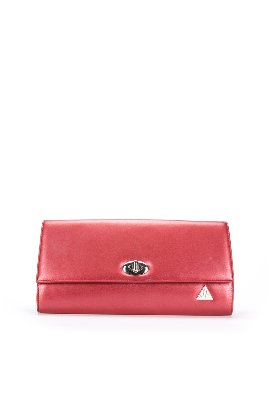 AIL Bags Iconss Red Clutch Front