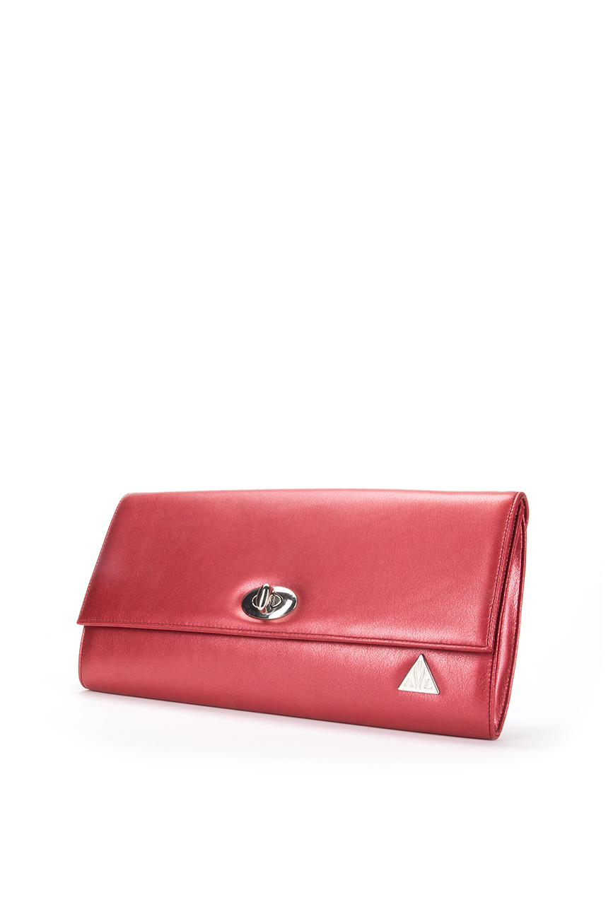 AIL Bags Iconss Red Clutch Side