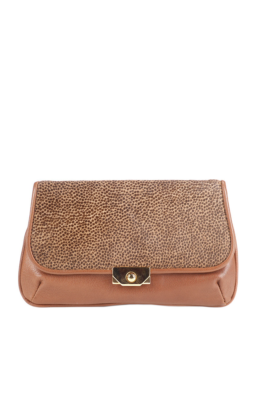 AIL Bags Pony Clutch Brown