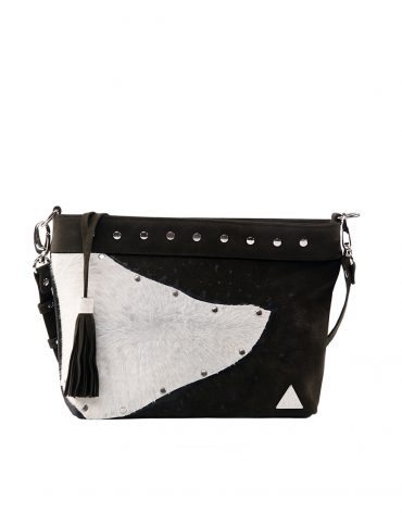 AIL Bags Pony Clutch White Front