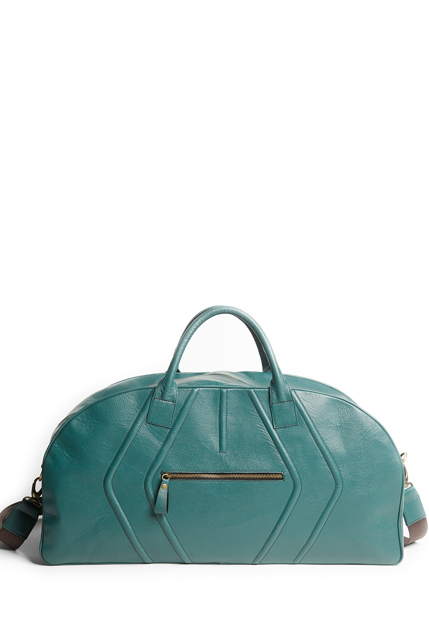 AIL Bags Turquoise Weekender Back