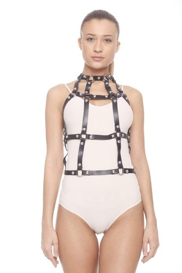 AIL Stage Accesories Abizu Leather Harness front