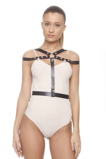 AIL Stage Accesories Leather Harness without Epaulettes front